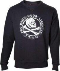 Uncharted - Pro deus QVOD Licentia heren sweater trui met crewnek zwart - Games merchandise - M