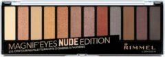 Huidskleurige Rimmel London 3x Rimmel MagnifEyes Oogschaduw Palette Nude edition