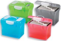 Elba hangmappenkoffer class'n'go design geassorteerde kleuren: turkoois, grijs, groen en roze