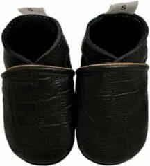 Zwarte BabySteps slofjes Black Crocodile maat 28/29