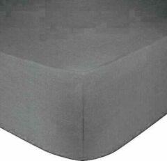 Antraciet-grijze Dream Time Jersey Stretch Hoeslaken - 160/180x200 - 100% Katoen - 30CM Hoekhoogte - Antraciet