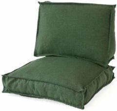 Grijze 2L Home & Garden 2L Home & Garden Loungekussen Metro Lounge Olijf - 60 x 60cm