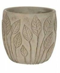 Groene NDT International Pot Nantes Grey 18x15 cm grijze ronde bloempot voor binnen