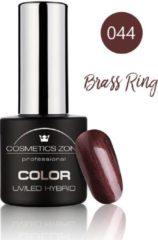Cosmetics Zone UV/LED Hybrid Gel Nagellak 7ml. Brass Ring 044