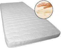 Witte Bedworld 80 x 220 cm Topper XXL Nasa Traagschuim Premium de Luxe