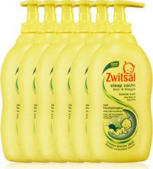 Zwitsal Slaap Zacht Bad- & Wasgel Eucalyptus - 6x 400ml - Voordeelverpakking