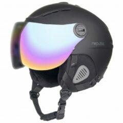 Bergfreunde.de - Ski Helm R310 Republic - Skihelm maat 60-62 cm zwart/grijs