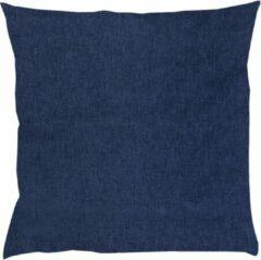 Donkerblauwe BINK Bedding Sierkussen Bo Jeans 50 x 50 incl vulling