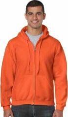 Gildan Oranje vest met capuchon voor heren XL