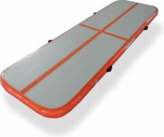 Dutchairtrack AirTrack Pro - Turnmat - Gymnastiek Oranje| 300x100x10 CM | Sporten & Spelen | Buiten & Binnen | Waterproof | Met elektrische pomp
