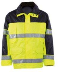 Blauwe ESVSHOP.nl MASCOT veiligheidsjas Savana, EN 471, geel/marine, 100 % polyester, maat XL