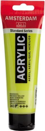 Afbeelding van Groene Royal Talens Standard tube 120 ml Groengeel halfdekkende acrylverf groen geel