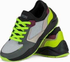 Grijze Merkloos / Sans marque Sneakers - heren - laag - Olive - T363