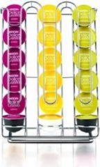 Zilveren Dolce Gusto origineel Krups capsule houder capsulehouder - 18 capsules / cups - cuphouder capsules koffiecups nescafe