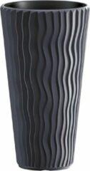 Antraciet-grijze Bloempot Buiten Hoog Rond Sandy Slim 30cm ANTRACIET Prosperplast
