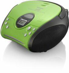 Lenco SCD-24 - Draagbare Radio/CD-speler - Groen/Zwart