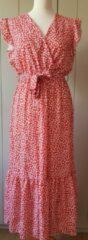 Merkloos / Sans marque Italiaanse Maxi-jurk rood