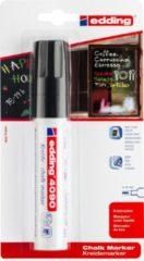Edding Krijtmarker e-4090 - Zwart - 1 stuk - krijtmarkers - raamstift - raamstiften - chalkmarker -– krijtstift – glasstift – schoolbordstift – krijtbordstift – stoepbordstift