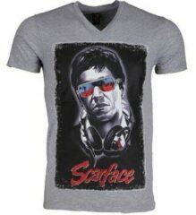 Grijze T-shirt Korte Mouw Mascherano T-shirt - Scarface