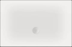 Witte Beterbad Xenz Luxe zelfdragende douchevloer Flat 100 x 80 x 3,5 cm
