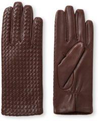 Donkerbruine Otto Kessler Mila handschoenen van leer