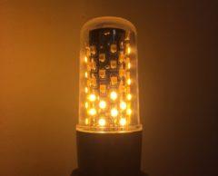Firelamp LED-lamp Energielabel A++ (A++ - E) E27 Staaf 3 W Warmwit (Ã x l) 32 mm x 115 mm Incl. vlameffect, Incl. zwaartekrachtsensor 1 stuk(s)