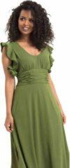 Voodoo Vixen Lange jurk -XL- Amelia Olive Groen