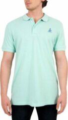 Witte BiggDesign Anemoss-Sailing- Poloshirt-Mint-54X74cm-S AnemosS Heren T-shirt Maat M/L