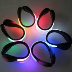 Evora 4 x LED Veiligheid Schoenclips | Hardloopschoenen LED verlichting | Hardloopverlichting | Hardloop lampjes | Rood runninglight