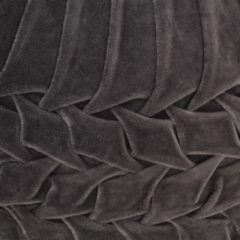 Grijze VidaXL Poef smock ontwerp 40x30 cm katoenfluweel antraciet