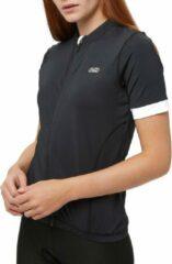 Witte Inq Rail Fietsshirt / Wielershirt Korte Mouw Zwart Dames