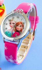 Kinderhorloge Elsa Pink met kroontje ®Pippashop