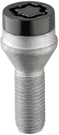 Afbeelding van McGard Slotboutenset M12x1.50 Zwart - Konisch - Lengte 25.5mm (17mm kop)