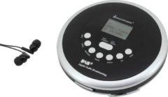Zwarte Soundmaster CD9290SW Portable CD/MP3-speler met DAB+ radio en oplaadbare batterij