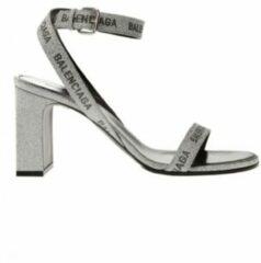 Grijze Hakken sandalen met logo