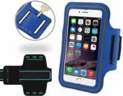 Blauw Universele Spatwaterdichte Sportarmband voor Apple iPhone 7 Plus / 7+ - Hardloop 5.5 inch Sport Armband Met Sleutelhouder (Apple iPhone, Samsung, Huawei, LG, HTC, Sony) - Waterproof / Waterdichte Case / Hoesje