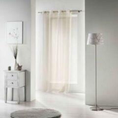 Creme witte Livettti.NL Livetti | Vitrage - Net Curtain | 135x280 | Creme | Polyester