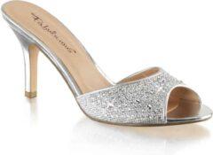 Fabelicious Fabulicious Muiltjes met hak -36 Shoes- LUCY-01 US 6 Zilverkleurig