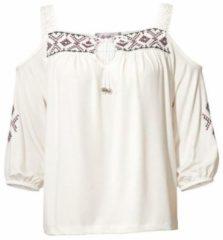 Witte Shirt met carmenhals
