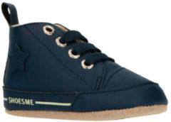 Shoesme blauwe babyslofjes met warme voering (BS9A001-B). Maat 19