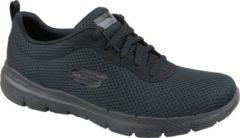 Zwarte Skechers Flex Appeal 3.0-First Insight Dames Sneakers - Black/Black - Maat 36