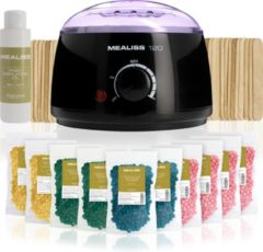 Zwarte PLASTIMEA Wax epileren - KIT MEALISS®120 - 1KG wax - hars - 20 spatels - 100ml olie