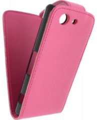 Roze Xccess Leather Flip Case Sony Xperia Z3 Compact Pink