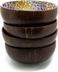 Paarse The coconutbowl Coconut Bowls - Gekleurd: Set van 4