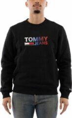 Tommy Jeans - Sweatshirt met corp logo met kleurverloop in zwart