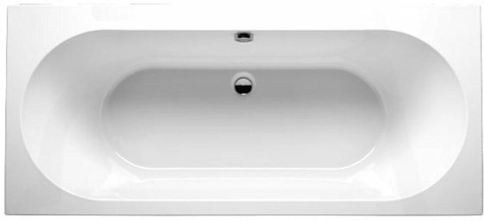 Afbeelding van Riho Carolina kunststof bad rechthoekig 190x80cm zonder poten wit bb55005