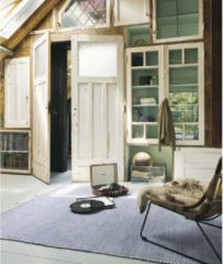 Brink & Campman Brink en Campman - Atelier Craft 49508 Vloerkleed - 200x280 cm - Rechthoekig - Laagpolig Tapijt - Retro, Scandinavisch - Beige, Blauw