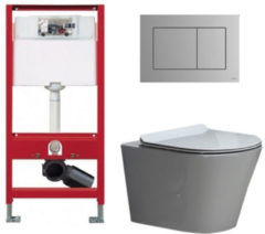 Douche Concurrent Tece Toiletset - Inbouw WC Hangtoilet wandcloset - Saturna Flatline Tece Now Mat Chroom