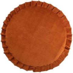 Wigiwama Speelmat / Speelkleed Kinderkamer Velvet Cinnamon - Vloerkleed 120 cm doorsnede