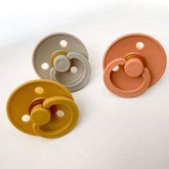 Bibs Fopspenen set 3 stuks 6-18 maanden (Mustard Oker geel, Sand, Peach) Maat 2 tut